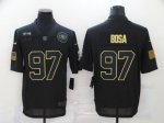 Football San Francisco 49ers #97 Nick Bosa Stitched Black 2020 Salute To Service Limited Jersey
