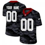 Custom Football San Francisco 49ers Any Name and Number Stitched 2020 Camo Salute to Service Limited Jersey