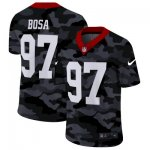 Custom Football San Francisco 49ers #97 Nick Bosa Stitched 2020 Camo Salute to Service Limited Jersey